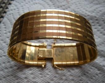 18K Yellow Gold Flex Bracelet Made in Italy  BREVET Mark PLUS Jeweler's Appraisal