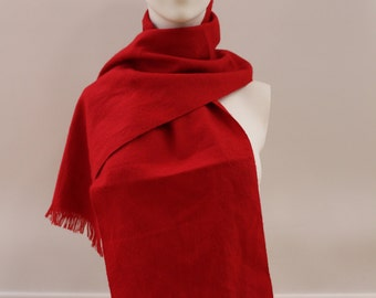 Large Plain Scarf (Red)