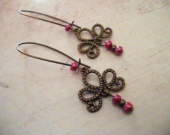 Bouces cherry rocaille earrings Bohemia, bobo, ethnic, gypsy