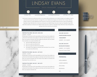 Professional Resume Templates; Modern Resume, CV Template for Word and Pages; Resume, Cover Letter + References + samples + tips; Instant DL