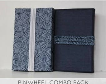 """New from """"Regift The Wrap""""...Reusable Stretch Fabric Gift Wrap- PINWHEELS Combo Pack"""