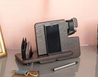 Mens Docking Station  Gift Ideas for Men  Mens gift  Iphone docking station  Personalized gifts - Free personalization