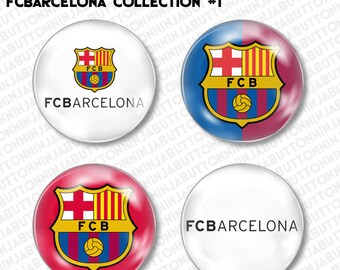 Set of 4 Mini Pins / Buttons - FC BARCELONA FCB fcbarcelona spain soccer lfp primera division la liga