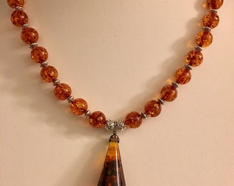 Baltic Amber Droplet Necklace
