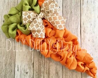 Burlap Easter wreath - Carrot Wreath - Spring Burlap wreath - custom gift - neutral burlap wreath - custom