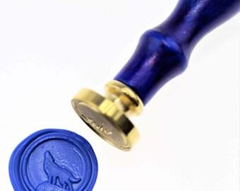 Wolf wax seal stamp/ wax sealing kit /SS057