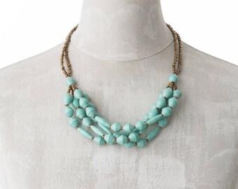Paper necklace FELISTAS | Mint | Uganda