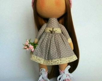 Fabric doll Soft doll Art doll Cloth doll Textile doll Decor doll Cute doll Interior doll Doll handmade  Doll rag Collectable doll Soft toy