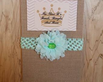 Mint Flower Headband