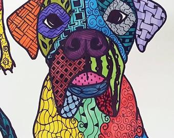 Zentangle Pet Drawing