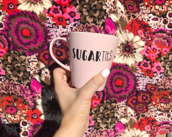 Sugar Tits Coffee Mug, Rude Coffee Mug, Office Humor, Work Humor, Rude Mug, Offensive Mug, Rude gift, Sarcastic Mug, Adult Mug
