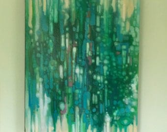 abstract number 4 painting