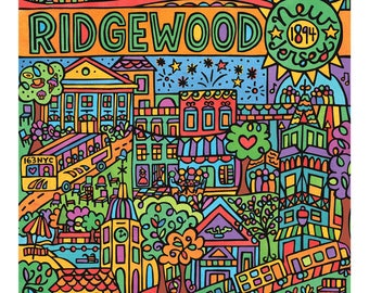 Ridgewood, New Jersey (11x14 art print)