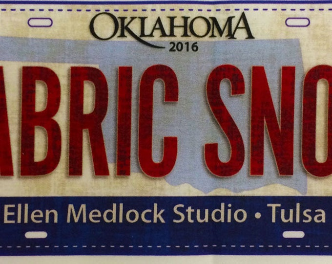 Fabric Snob Fabric License Plate - Official Row X Row Experience 2016