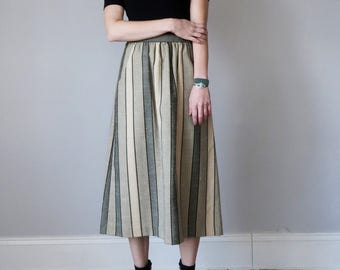 70s stripe skirt (m - l)