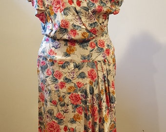 Silk jacquard dress
