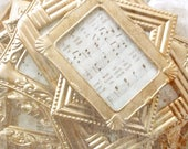 French Shabby Chic Gold Painted Frames. Victorian Romance Wedding Picture Frames. Ornate Frame Mix. Tabletop w Easels . Set of 12