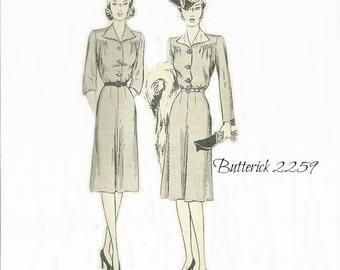 Butterick 2259 Dress Pattern Four Gored Skirt Size 14 Bust 32