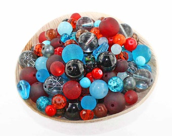 Glass Bead Mix Assorted 100 Southwest Color Combination 6mm to 12mm - BMX40