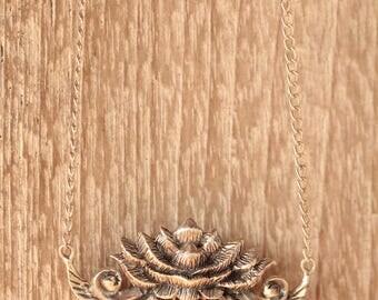 Lotus Flower Necklace, Lotus Necklace, Lotus Jewelry, Lotus Flower Jewelry, Lotus Pendant, Sterling Silver Necklace, Boho Jewelry, Bohemian