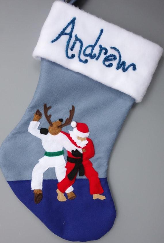 RESERVED Custom Order for Danielle--Judo Santa and Om for Christmas