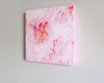 Effervescence 12x12  Original Abstract Painting, gallery-wrapped, acrylic on canvas by Cortney North