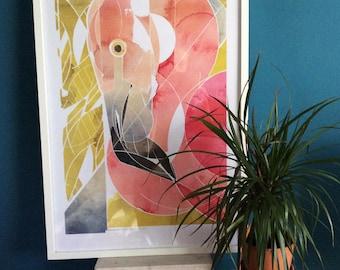 Flamingo _ ArtPrint/Poster