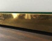 Windowsill Extra Long Brass Planter ~ 2.5 Ft. Long