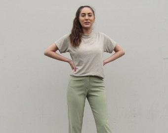 Cigarette pants 90s minimalist stretch pants