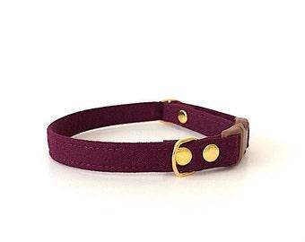 Burgundy Cat Collar
