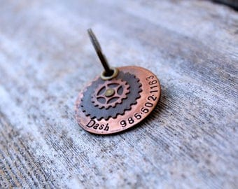 Steampunk Tails: Mixed Metal Pet ID Tag