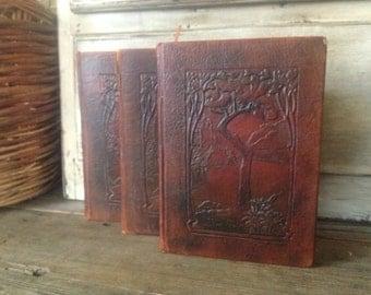 Art Nouveau Leather Book Little Journeys Great Teachers, Reformers, American Statesmen