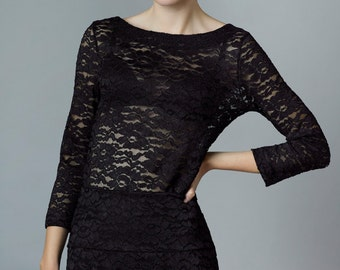 "top ""johanna"", black lace"