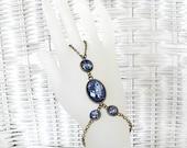 Galaxy Bracelet Space Jewelry Hand Chain Bracelet Bohemian Ring Bracelet Blue Slave Bracelet