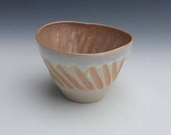Cream & Peach Porcelain Espresso cup, demitasse cup, tea bowl, punch cup