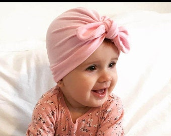 Baby Turban, Baby Turban With Bow, Boho Baby Turban, Toddler Turban, Baby Turban Headwrap, Baby Bow, Baby Turban Hat, Baby Bonnet,