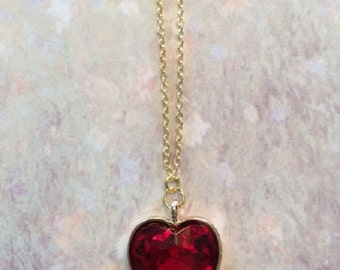 Red Heart - Red Heart Necklace - Red Heart Jewelry - Red Heart Pendant - Red Necklace - Red Jewelry - Red Pendant - Heart Necklace - Heart