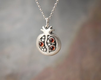Pomegranate Necklace with Garnet