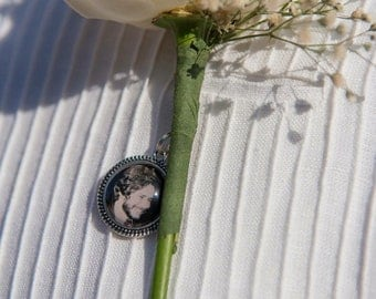 Photo Boutonniere Charm, Small Charm, Personalized Charm