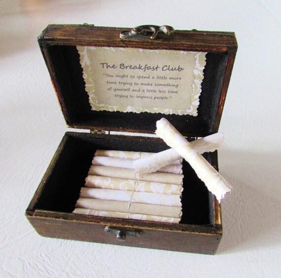Birthday Gift, Anniversary Gift, Christmas Gift, Breakfast Club Scroll Box, Breakfast Club gift, Breakfast Club quotes, Wife Anniversary