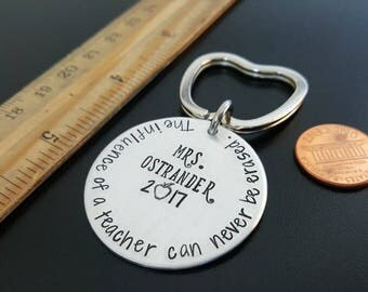 Personalized Teacher Gift, Teacher Keychain, Teacher Appreciation Gift, Teacher End of Year Gift, Male Teacher Gift, Teacher Christmas Gift
