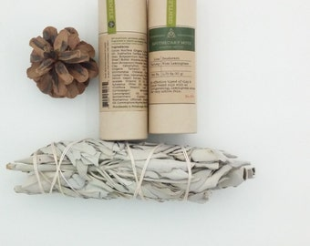 Deodorant Stick - Wise Lemongrass Sage - GENTLE, Clay and Herbs, No Aluminum, Sustainable Packaging - 1.75 oz