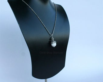 White Coral  Pendant, Unique White Coral Necklace, One of a Kind Minimalist Jewelry, Natural Coral Jewelry, Sterling Silver Chain Necklace