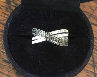 An 18k Diamond Eternity Ring