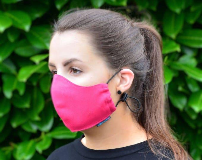 MASKERAID Lipstick Pink Reusable Cotton Canvas Face Mask