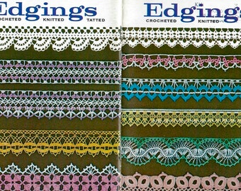 37 Edgings Book PDF 1960s Crochet Knitted Tatted Edgings Filet Crochet Church Lace Crochet Insertions Instant Download PDF - 2167