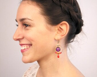 Bohemia - 96 reasons to choose - gold or Silver earrings. Remember to read the description!