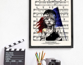 Victor Hugo Les Misérables Print, I Dreamed a Dream Music Sheet, Cosette, Book Lover Gift