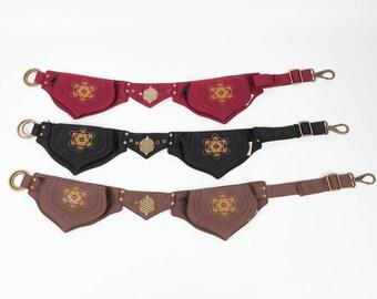 Festival hip bag, utility pocket belt, fanny pack, waist pouch, holster bag, burning man, vegan leather, playa belt, party pockets UB14M