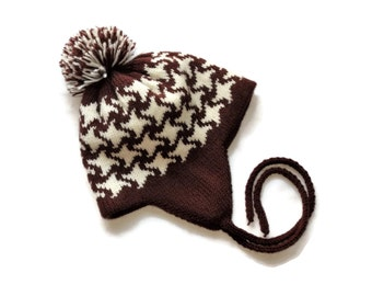Baby knit hat baby wool hat baby hat kids hat kids wool hat childrens knit hat baby boy hat baby girl hat newborn hat baby brown hat wool